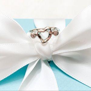 Tiffany & Co. Elsa Peretti Open Heart W/ Diamonds